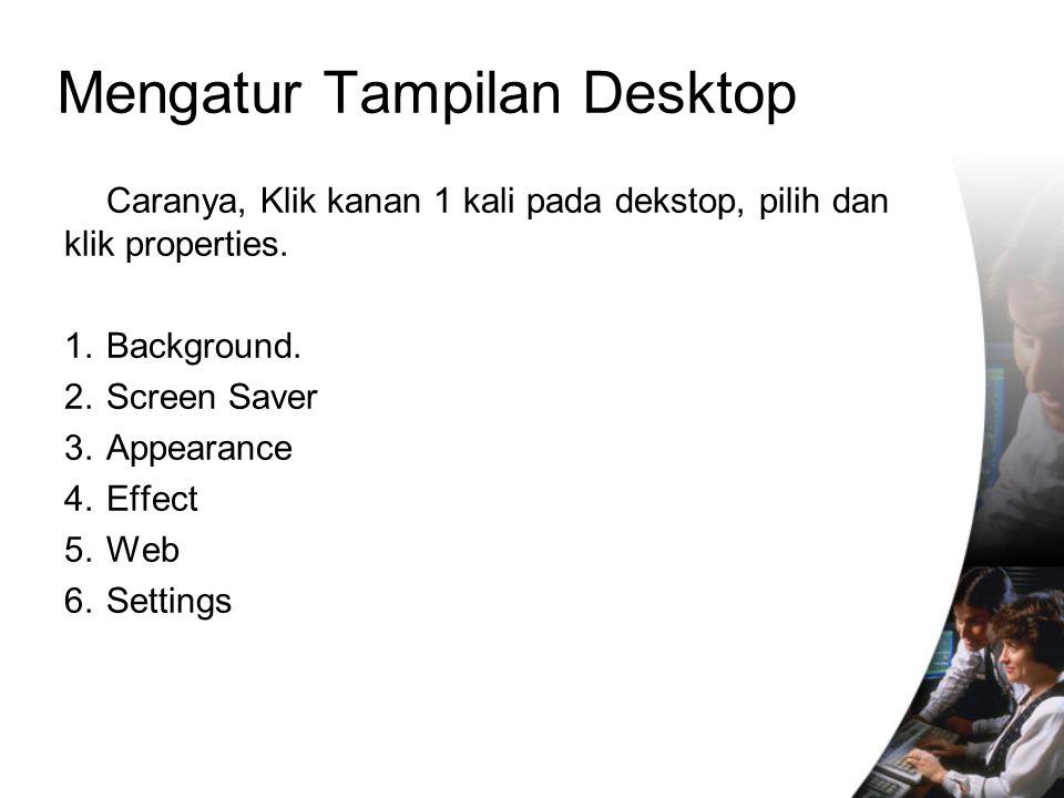 Mengatur Tampilan Desktop