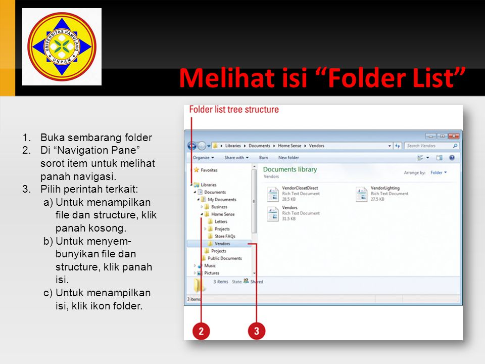Melihat isi Folder List
