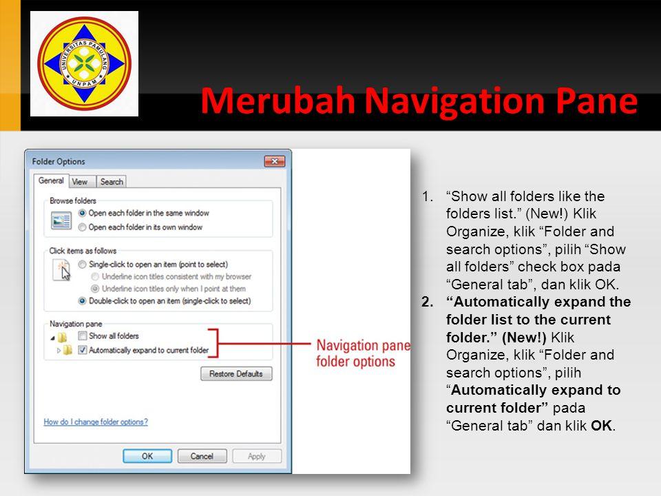 Merubah Navigation Pane