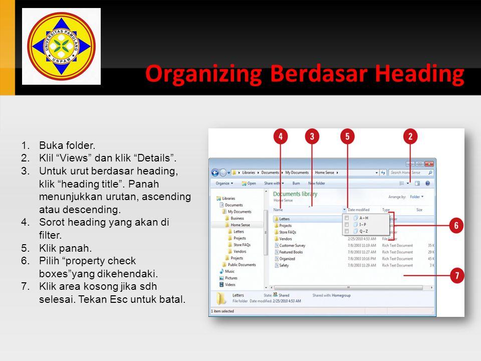 Organizing Berdasar Heading