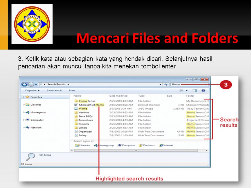 Mencari Files and Folders