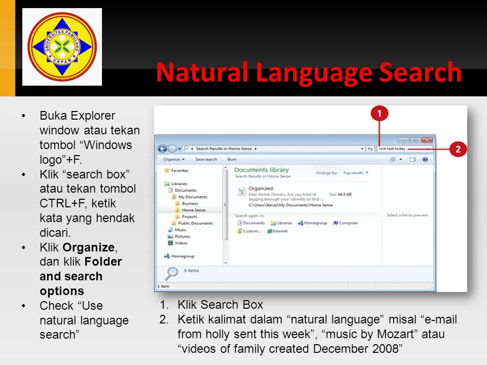 Natural Language Search