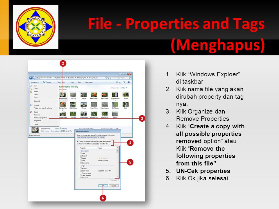 File - Properties and Tags (Menghapus)