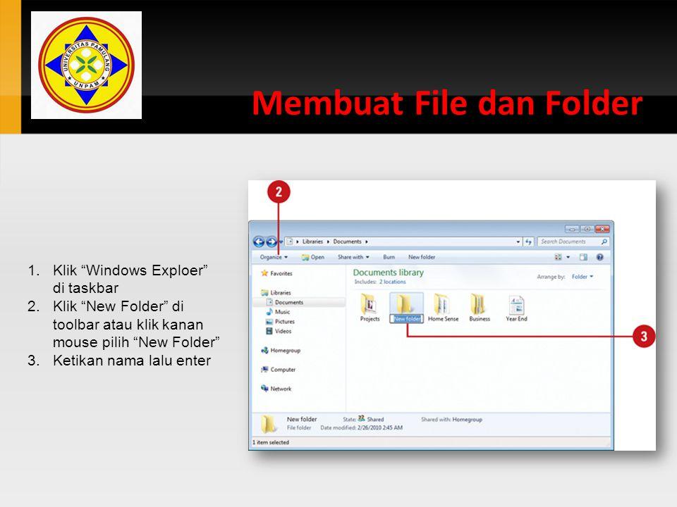Membuat File dan Folder
