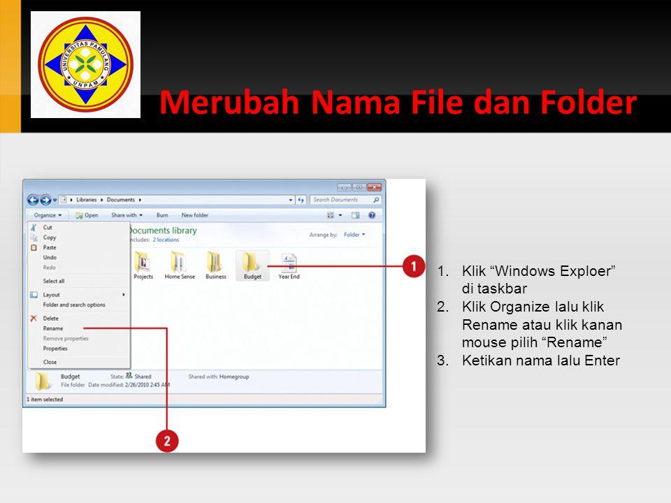 Merubah Nama File dan Folder