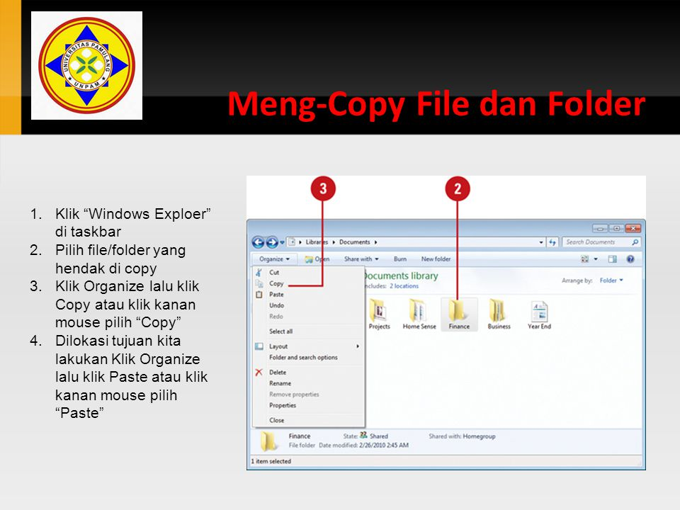 Meng-Copy File dan Folder