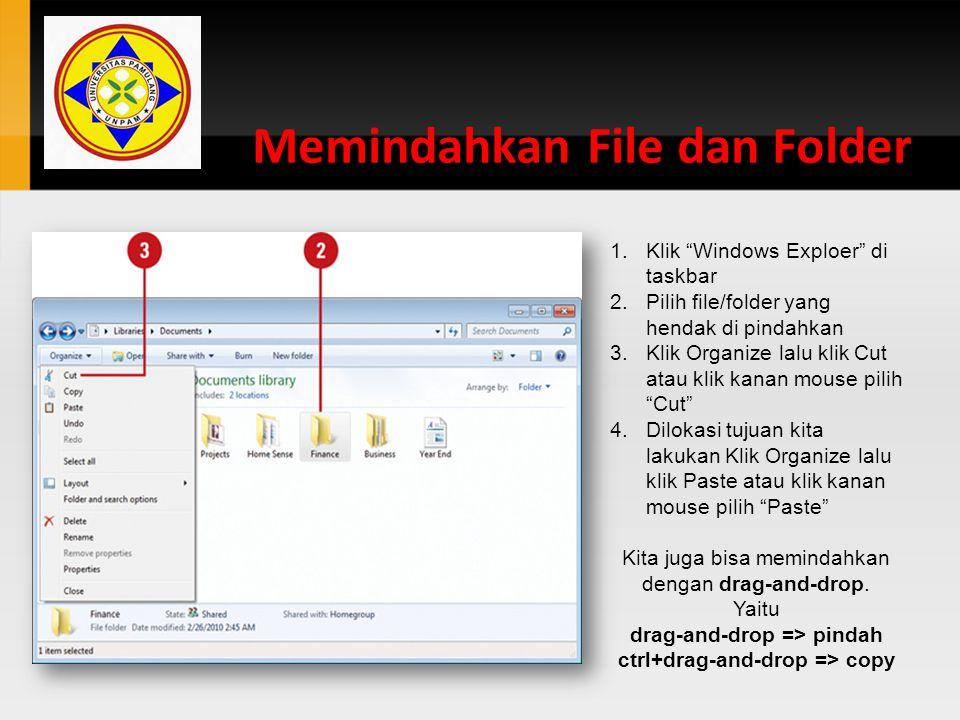 Memindahkan File dan Folder