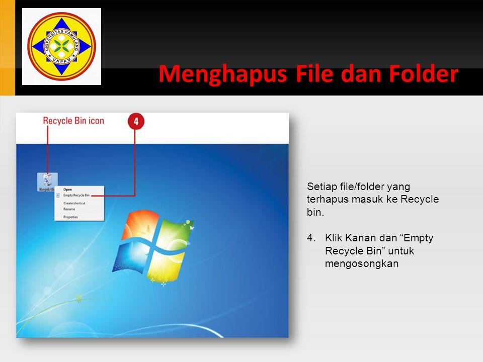 Menghapus File dan Folder