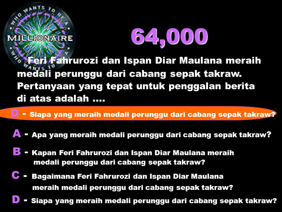 64,000 Feri Fahrurozi dan Ispan Diar Maulana meraih