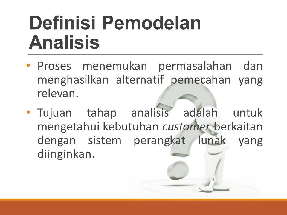 Definisi Pemodelan Analisis