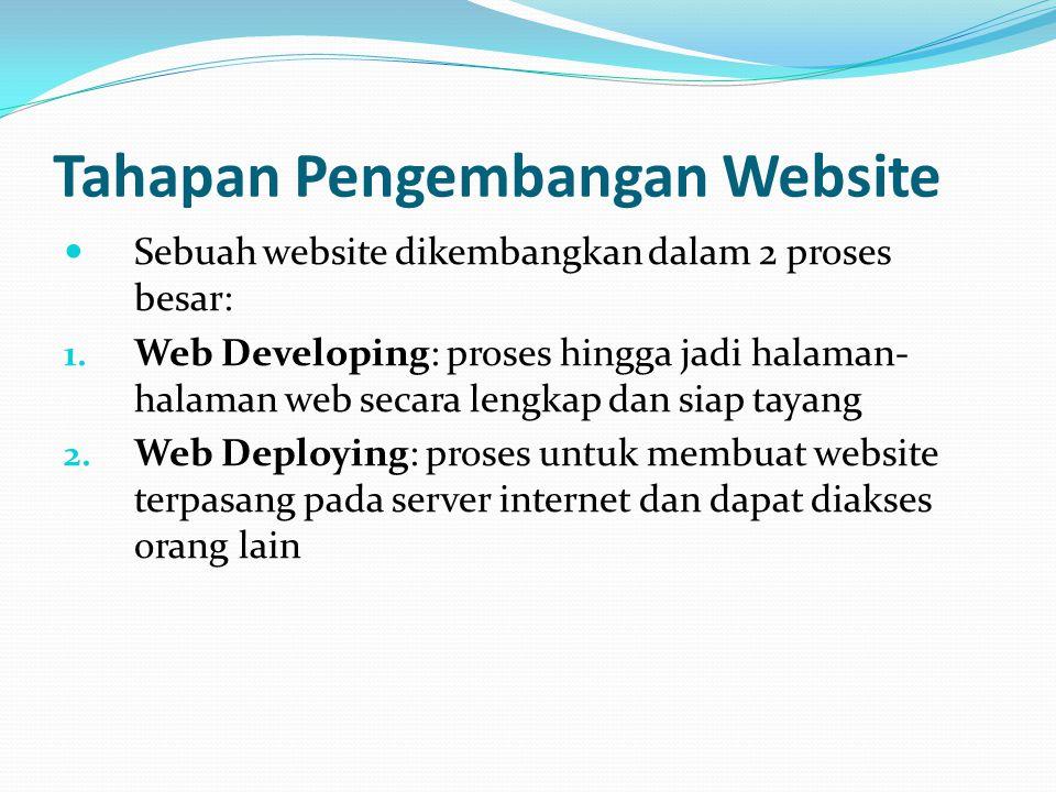 Tahapan Pengembangan Website