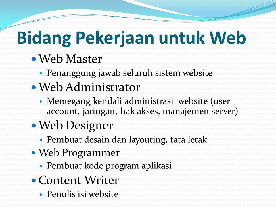 Bidang Pekerjaan untuk Web