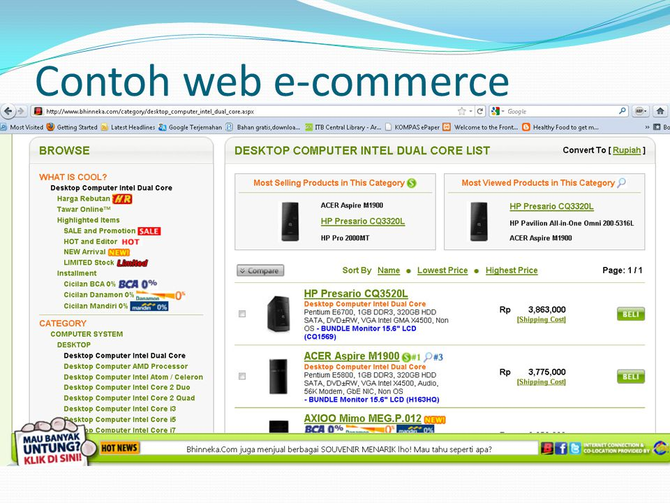 Contoh web e-commerce