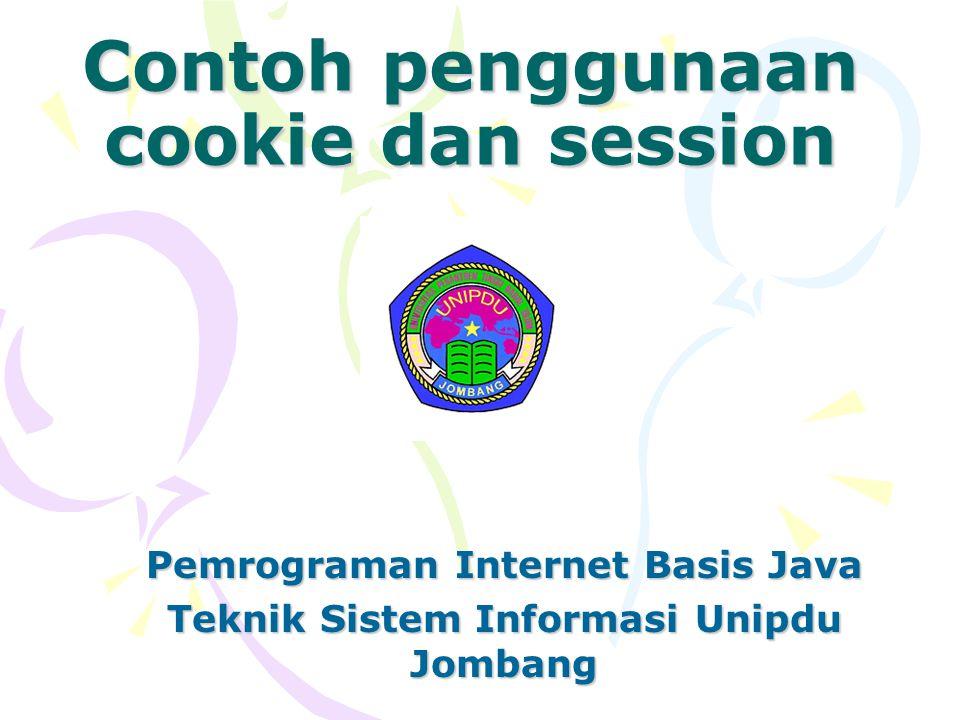 Contoh penggunaan cookie dan session