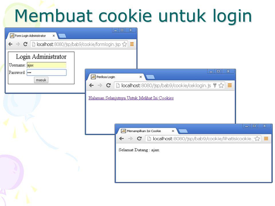 Membuat cookie untuk login