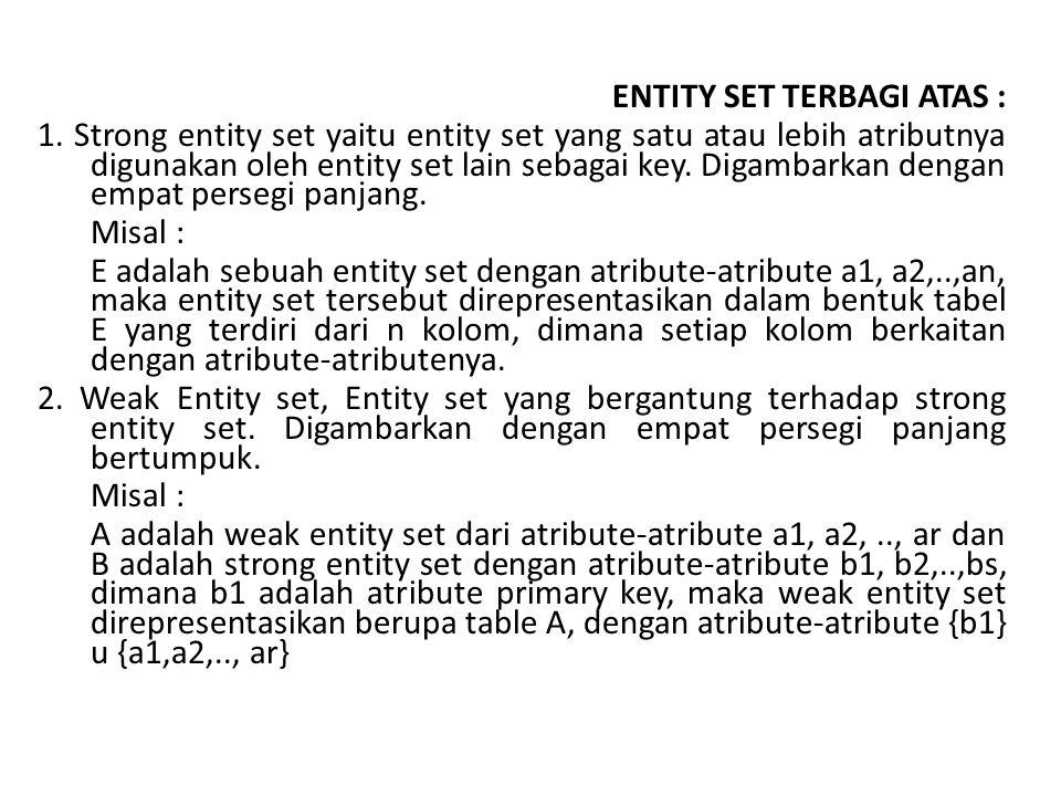ENTITY SET TERBAGI ATAS : 1