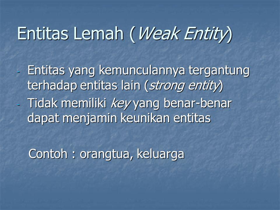 Entitas Lemah (Weak Entity)