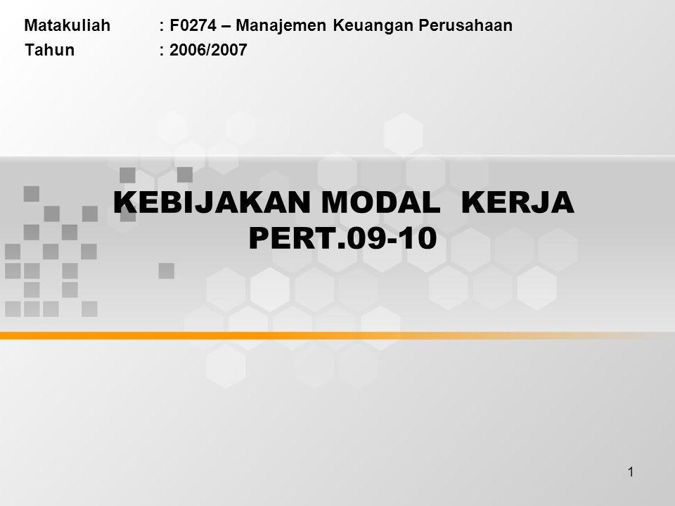 KEBIJAKAN MODAL KERJA PERT.09-10