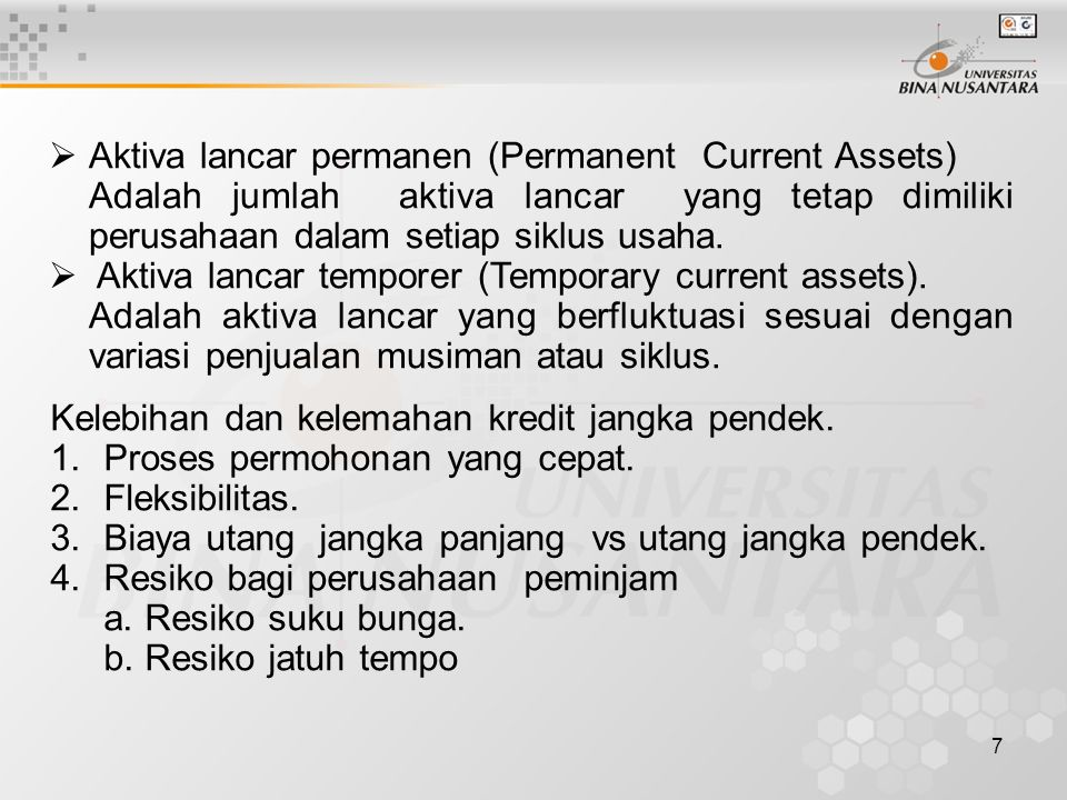 Aktiva lancar permanen (Permanent Current Assets)