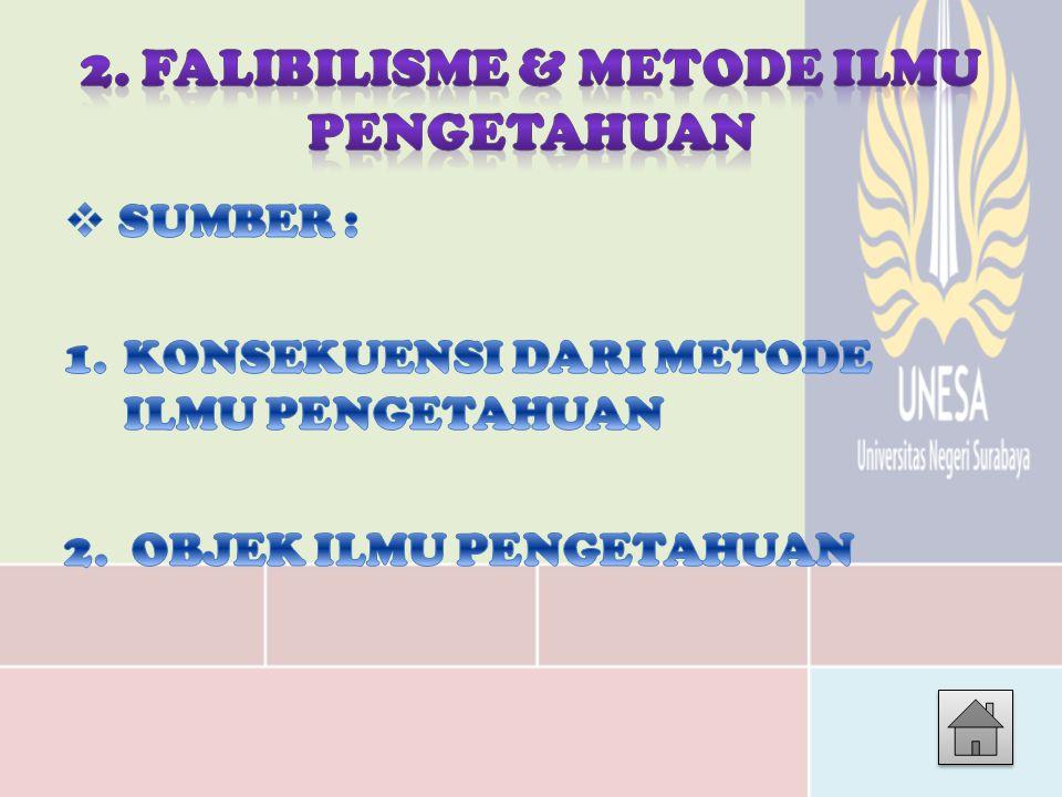 2. FALIBILISME & METODE ILMU PENGETAHUAN