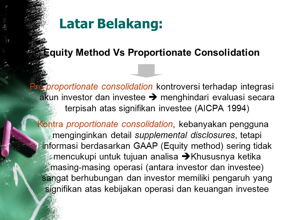 Equity Method Vs Proportionate Consolidation