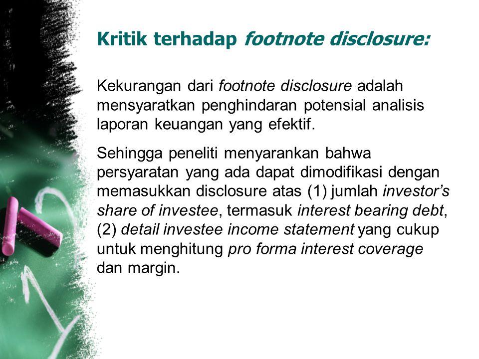 Kritik terhadap footnote disclosure: