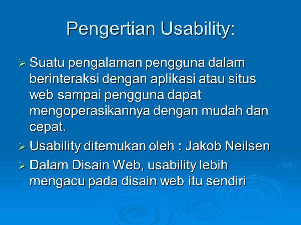 Pengertian Usability: