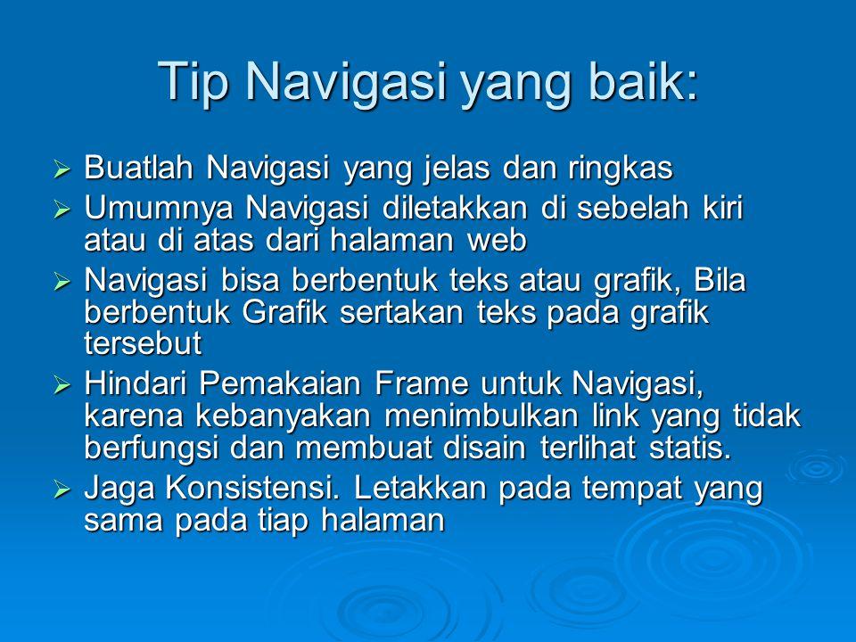 Tip Navigasi yang baik:
