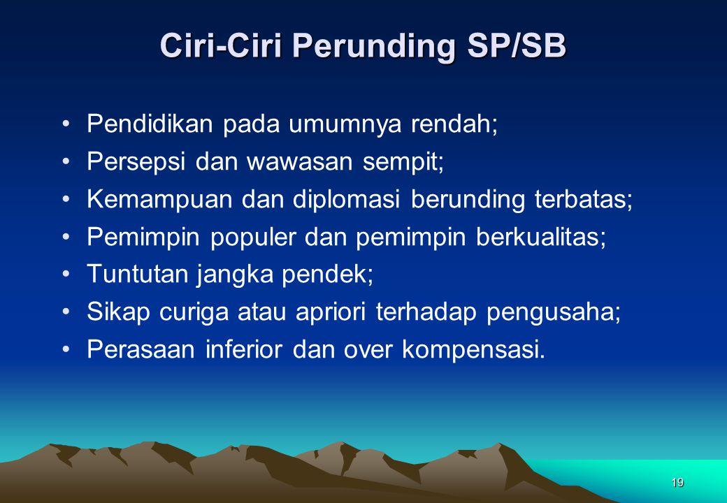 Ciri-Ciri Perunding SP/SB