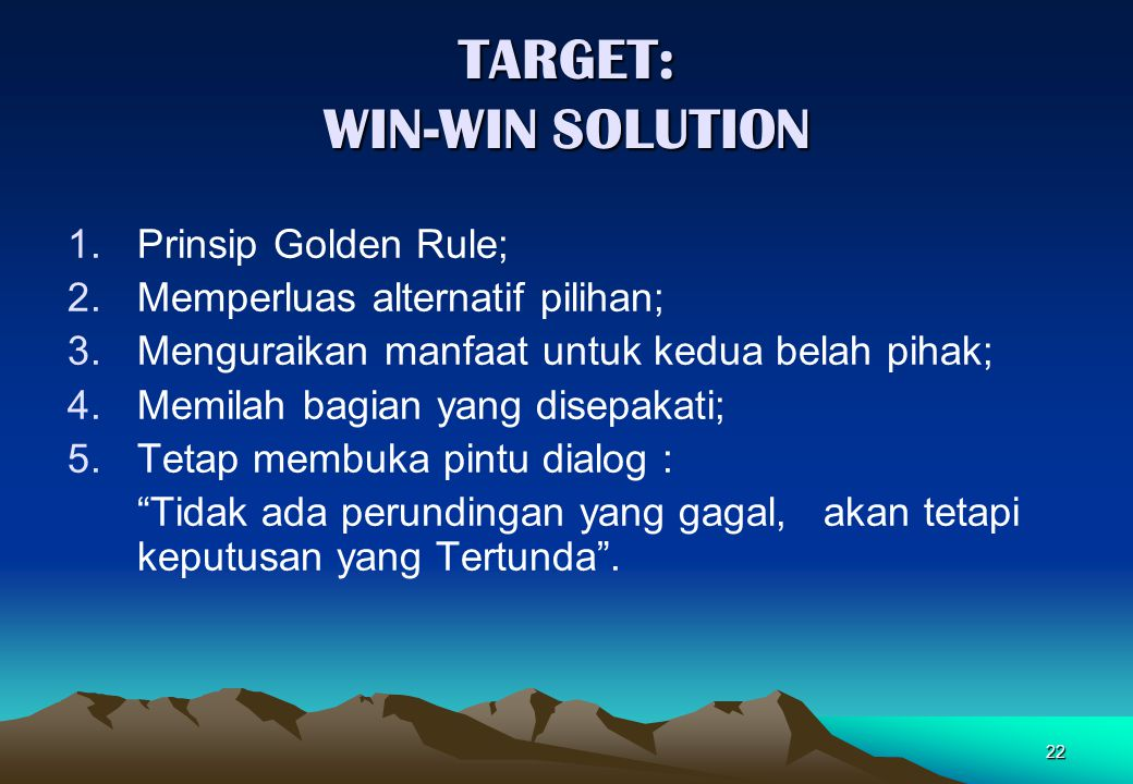 TARGET: WIN-WIN SOLUTION