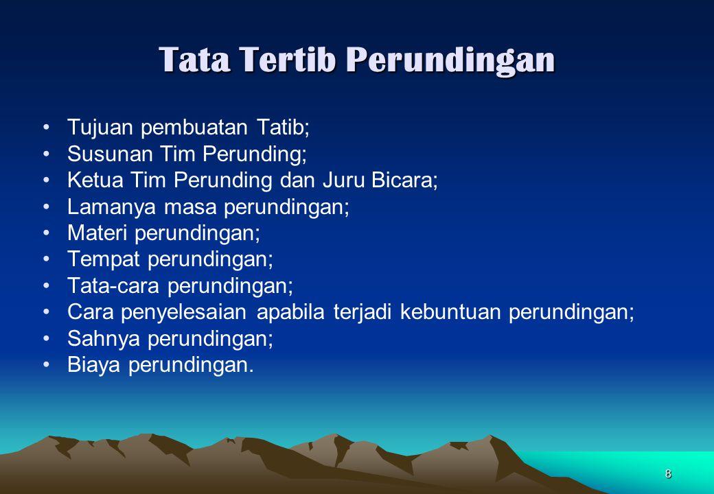 Tata Tertib Perundingan