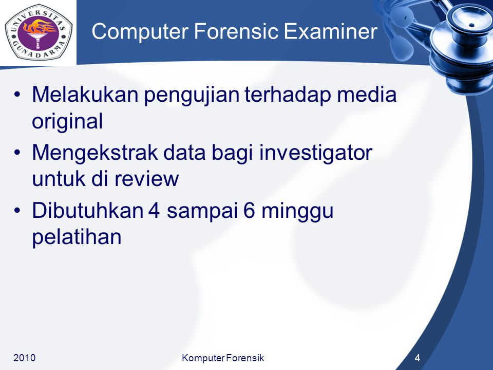 Computer Forensic Examiner