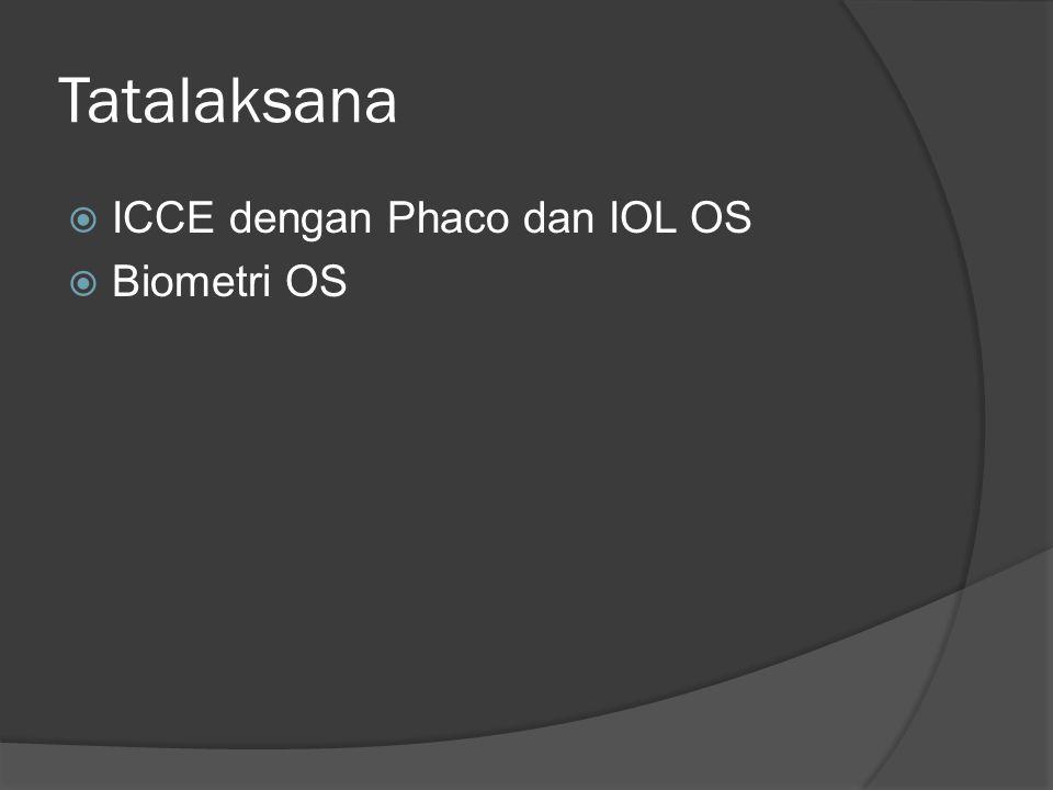 Tatalaksana ICCE dengan Phaco dan IOL OS Biometri OS