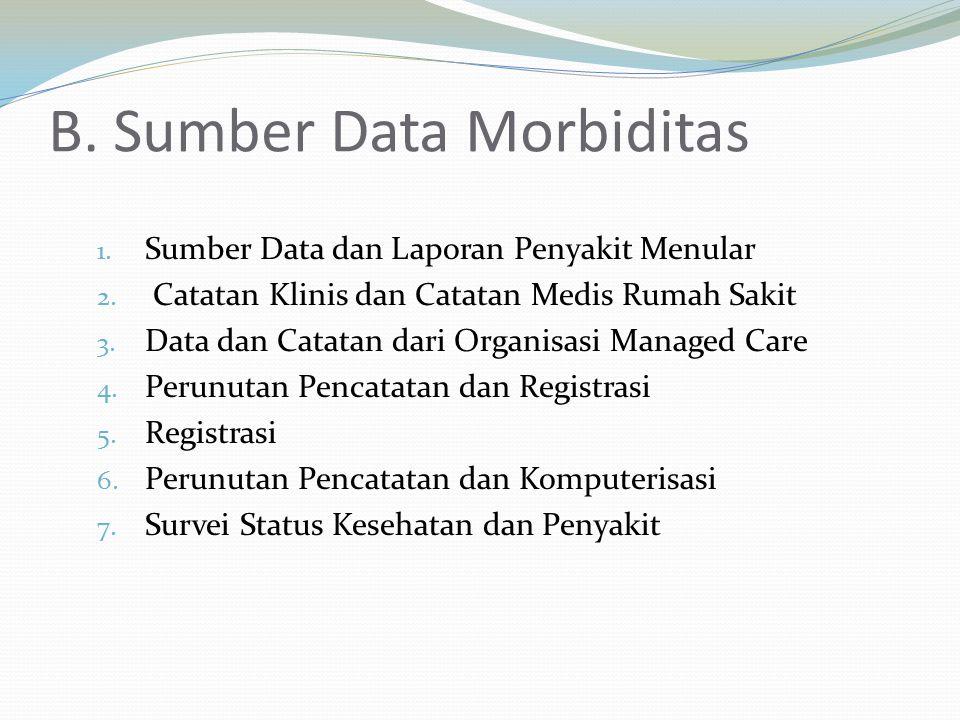 B. Sumber Data Morbiditas