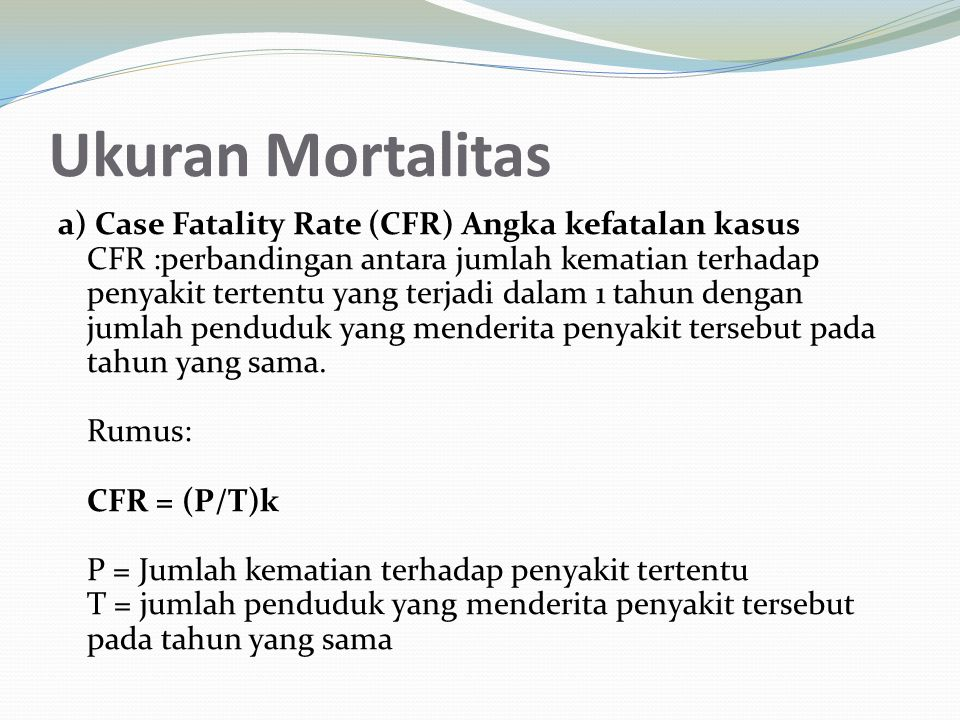 Ukuran Mortalitas