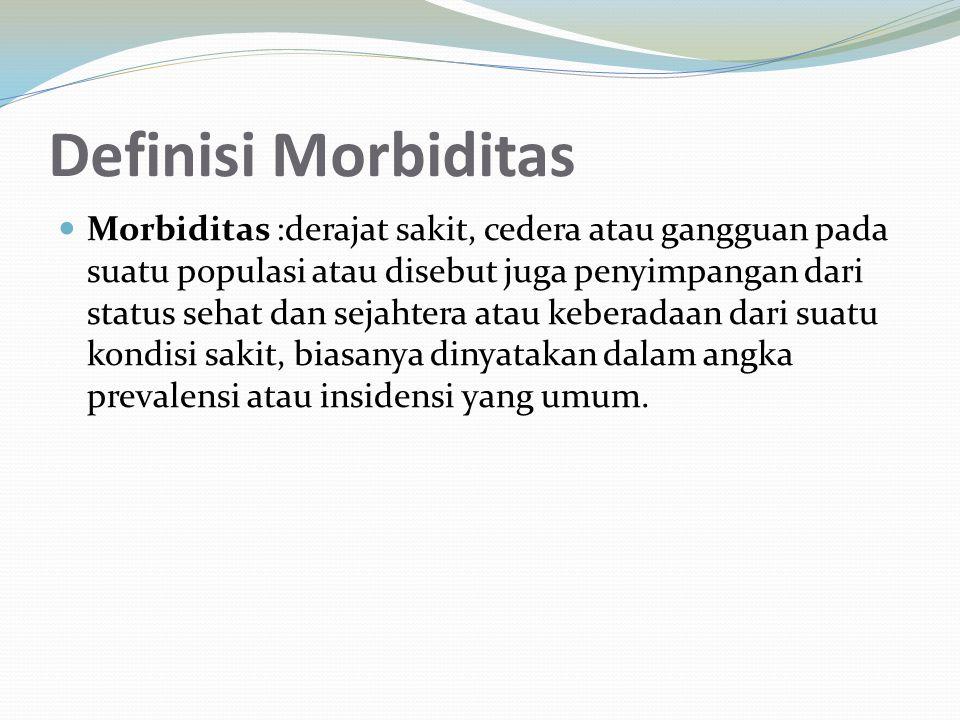 Definisi Morbiditas