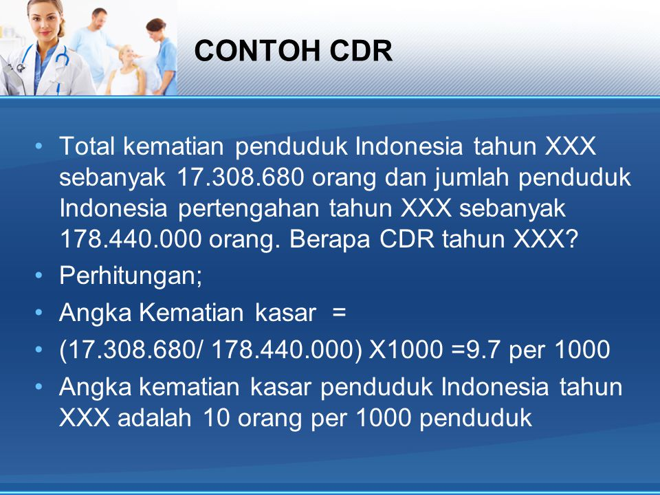 CONTOH CDR