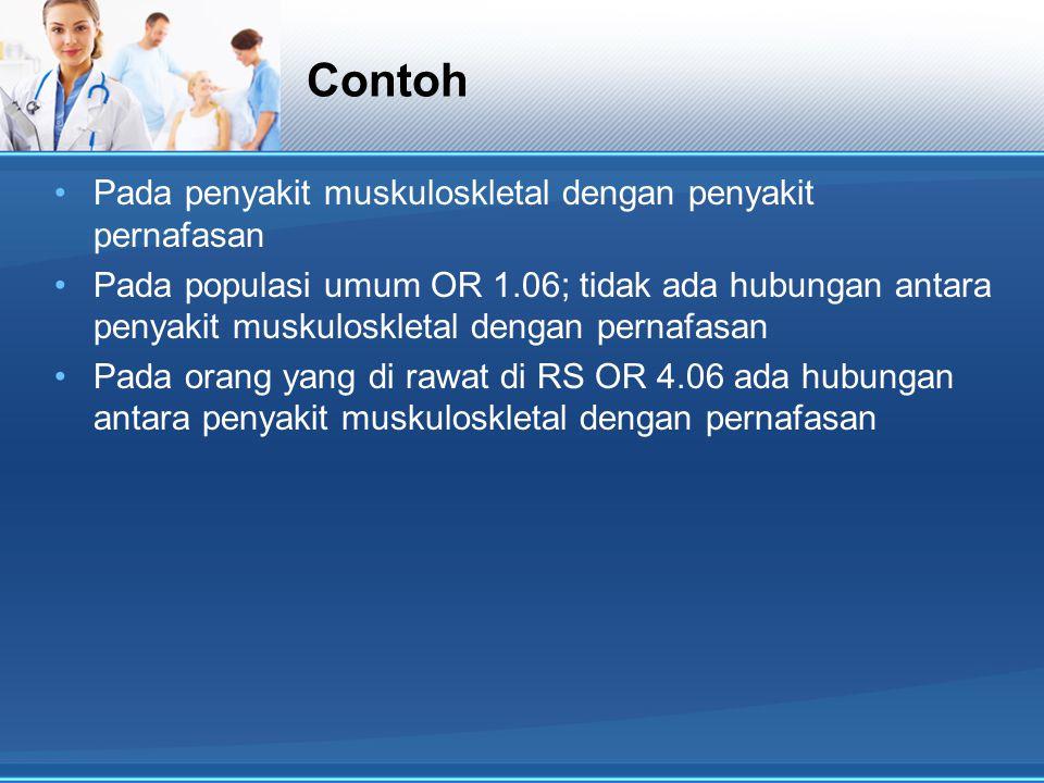 Contoh Pada penyakit muskuloskletal dengan penyakit pernafasan