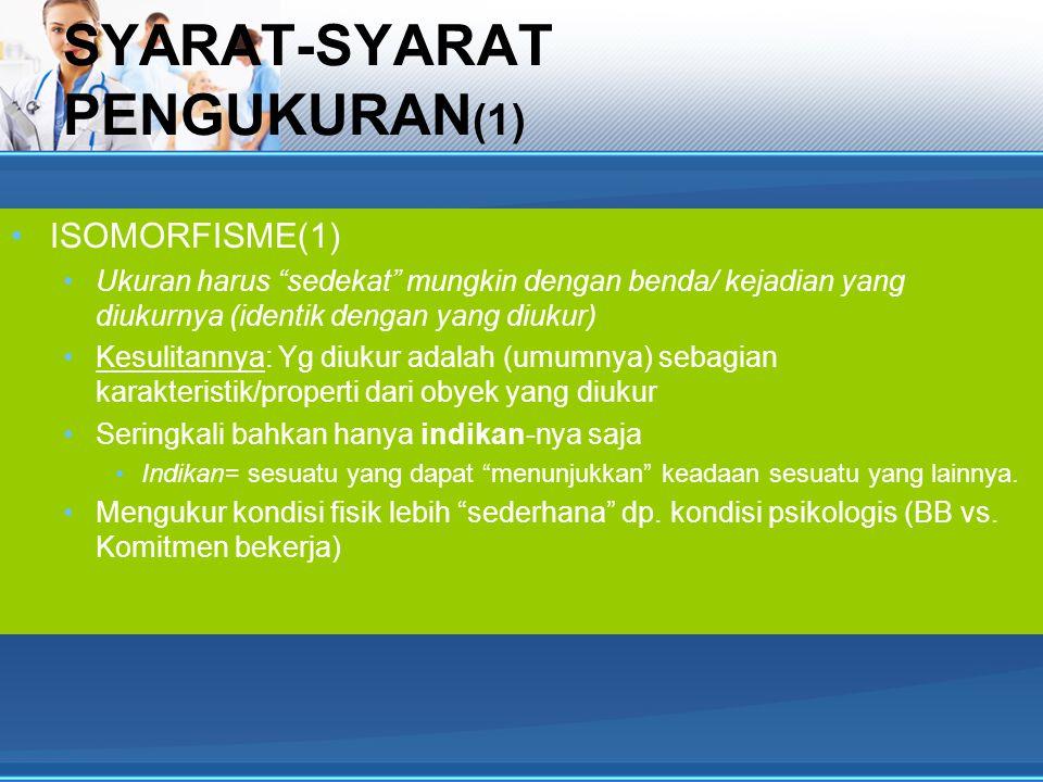 SYARAT-SYARAT PENGUKURAN(1)