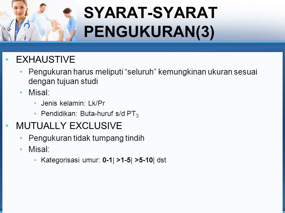 SYARAT-SYARAT PENGUKURAN(3)