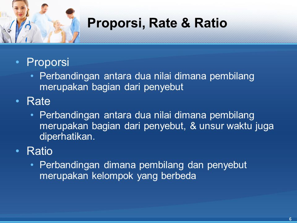 Proporsi, Rate & Ratio Proporsi Rate Ratio
