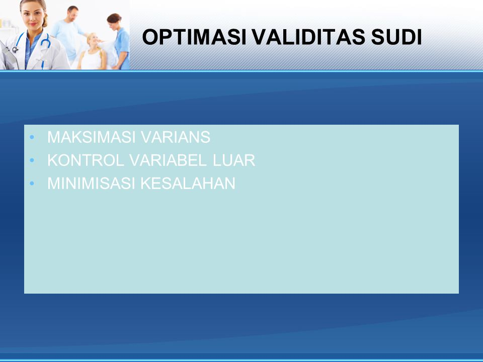 OPTIMASI VALIDITAS SUDI
