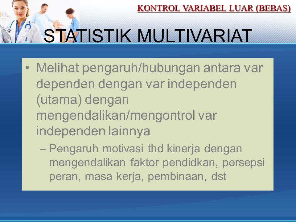 STATISTIK MULTIVARIAT