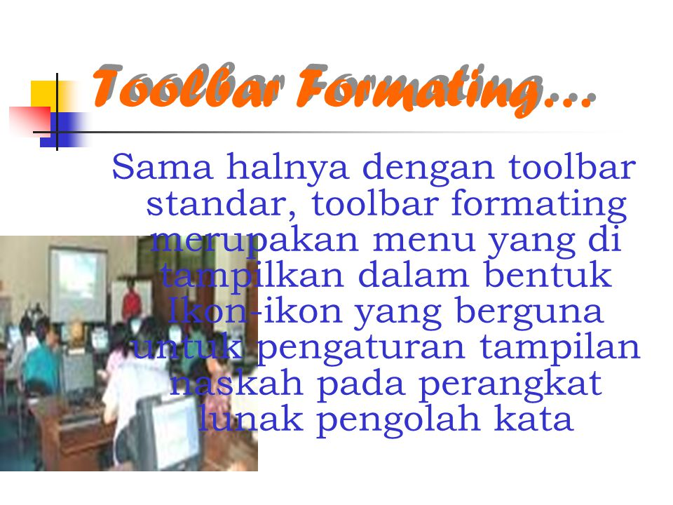 Toolbar Formating…