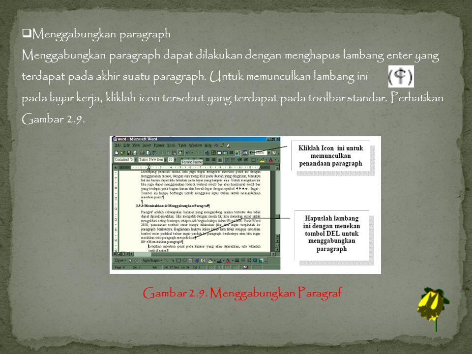 Menggabungkan paragraph