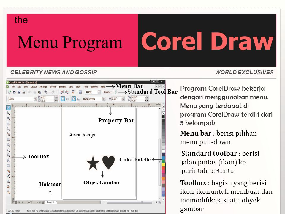 Corel Draw Menu Program the