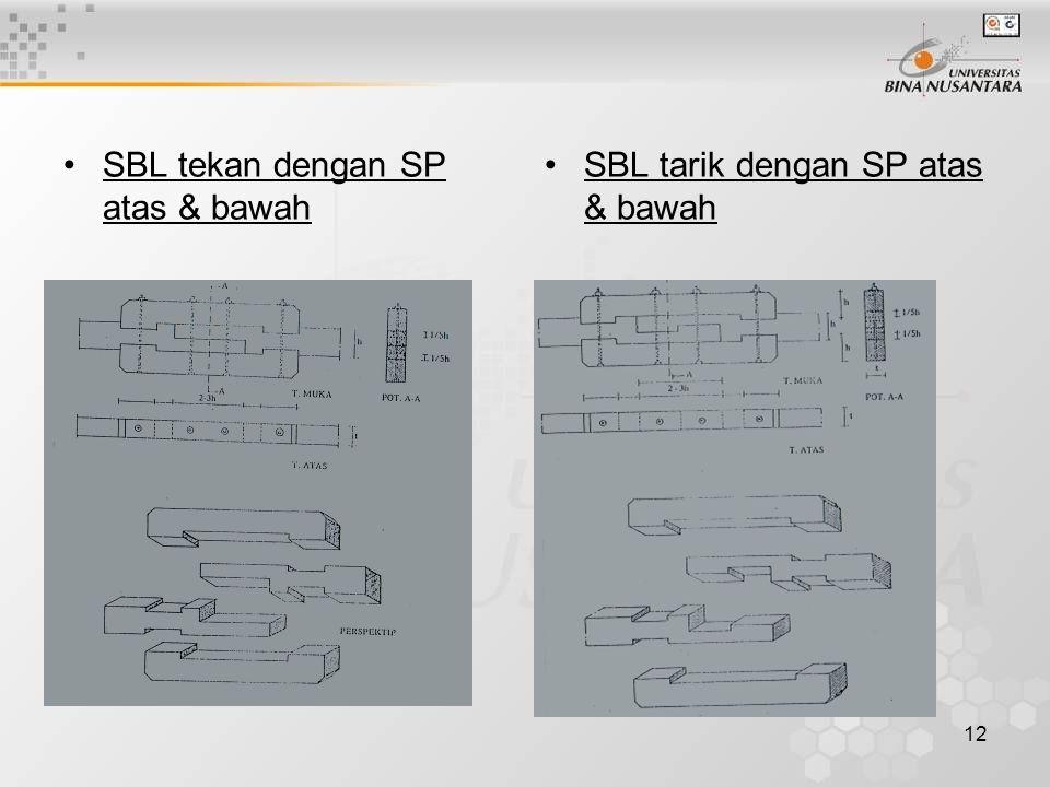 SBL tekan dengan SP atas & bawah