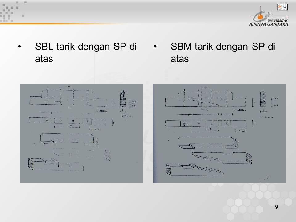 SBL tarik dengan SP di atas