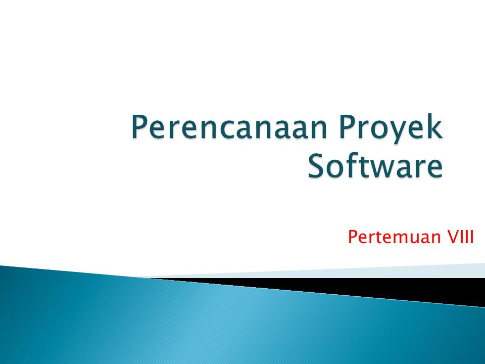 Perencanaan Proyek Software