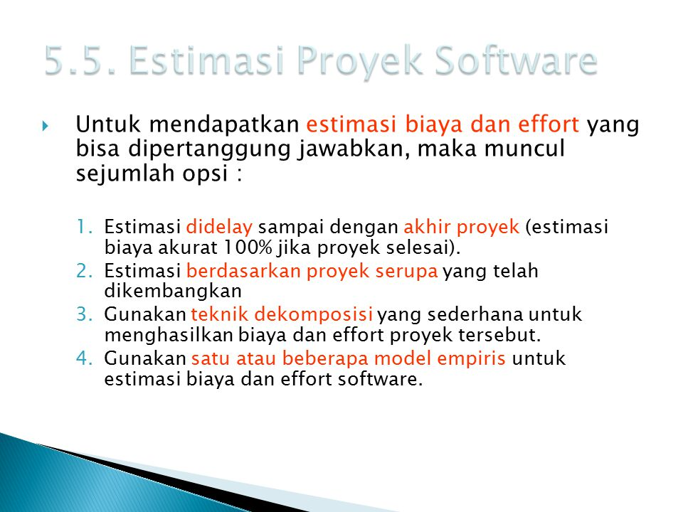 5.5. Estimasi Proyek Software